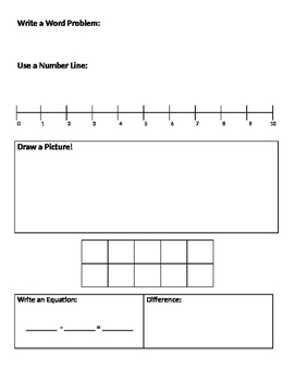 Addition & Subtraction: Multiple Strategies Worksheet