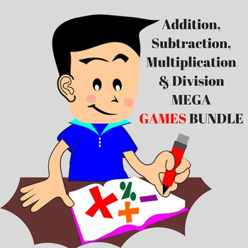 Addition, Subtraction, Multiplication & Division MEGA GAME