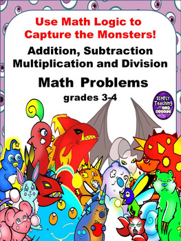 Addition, Subtraction, Multiplication, and Division Scaven
