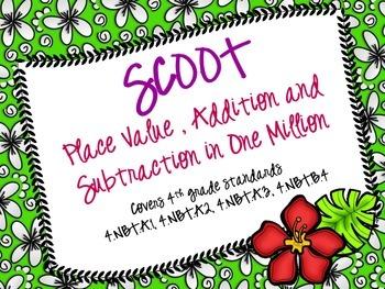 Addition, Subtraction, Place Value Scoot (Common Core)