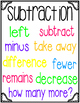 Addition & Subtraction Posters *FREEBIE*