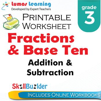 Addition & Subtraction Printable Worksheet, Grade 3