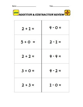 Addition & Subtraction Review