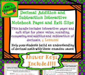 Addition, Subtraction, Rounding, and Comparing Decimals In