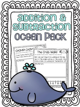 Addition & Subtraction Story Problems {Ocean Pack}