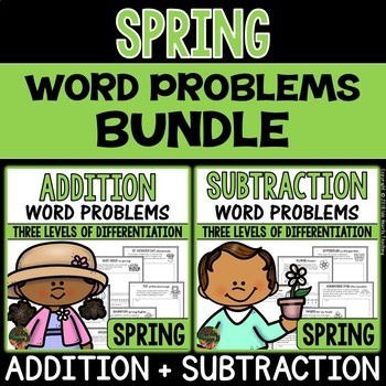 Spring Word Problems (Addition and Subtraction Word Proble