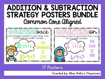 Addition & Subtraction Strategy Posters BUNDLE (Common Cor