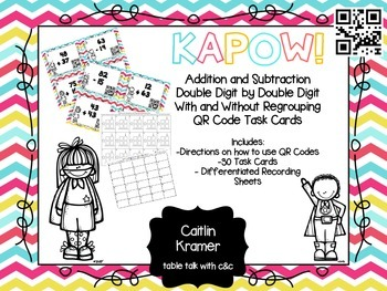 Two Digit by Two Digit Addition & Subtraction Task Cards w