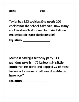 Addition-Subtraction Word Problems
