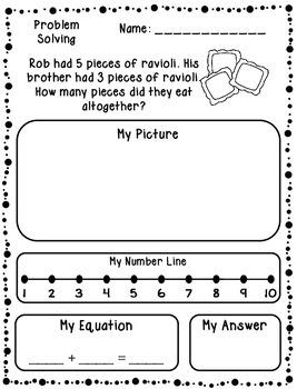 Addition & Subtraction Word Problems (Kindergarten/First)