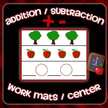 Addition & Subtraction Work Mats Center