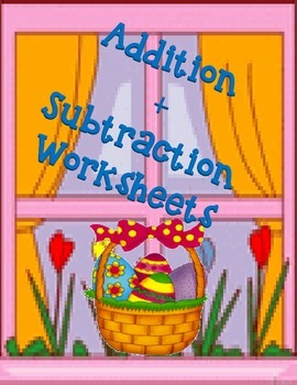 Addition-Subtraction Worksheets for Easter