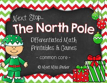 Differentiated Math Printables & Games for Christmas/Winte