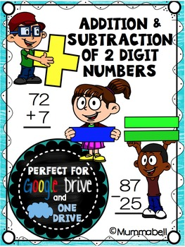 Addition & Subtraction of 2-digit Numbers - a DIGITAL Goog