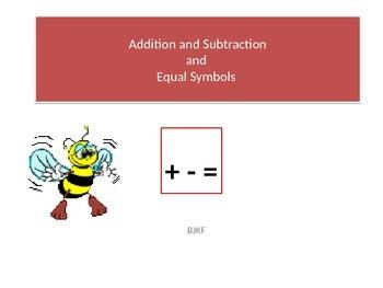 Addition Symbol, Subtraction Symbol, and Equal Symbol Intr