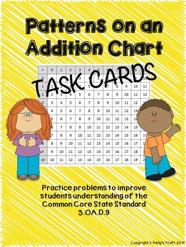 Addition Table Task Cards