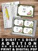 2 Digit by 1 Digit Addition Without Regrouping Task Cards