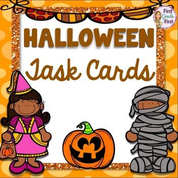 Addition Task Cards Halloween