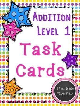 Addition Task Cards {Level 1 ~ Basic Facts}