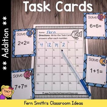 Addition Ocean Themed Task Cards