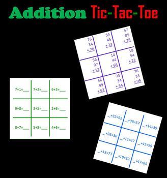 Addition Tic-Tac-Toe