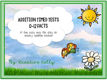Addition Fact Fluency Builder: Tests & Flash Cards (0-12 Facts)