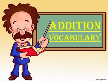 Addition Vocabulary 1st Grade Common Core