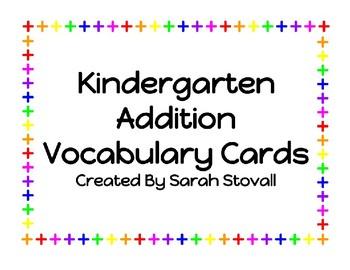 Addition Vocabulary Words