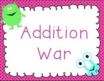 Addition War! Card Game