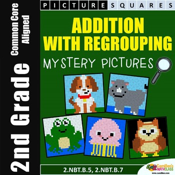 Adding with Regrouping, Addition (Regrouping) Mystery Pict