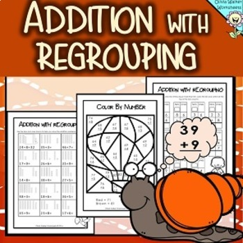 Addition With Regrouping - Adding to 100, Two Digit Plus O