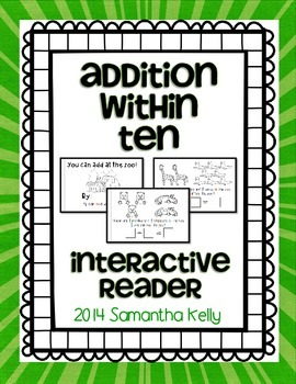 Addition Within 10 Interactive Reader