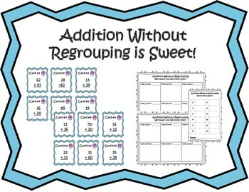 Addition Without Regrouping is Sweet! - Task Cards