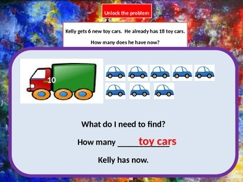Addition Word Problem, Solving by Drawing and Modeling for