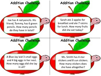 Addition Word Problems!