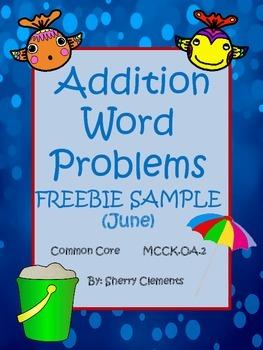 Summer Addition Word Problems (FREEBIE)