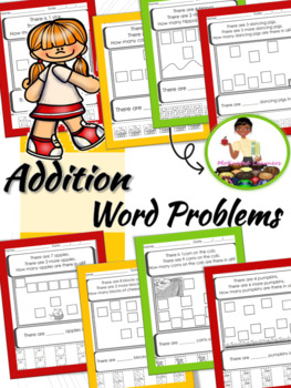 Addition Word Problems (Numbers 1-10) Beginners Cut & Paste