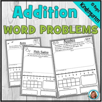 Kindergarten Addition Word Problems aligned with Common Core