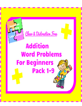 Addition Word Problems for beginners: 1-9 Pack
