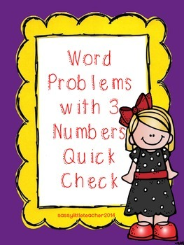 Addition Word Problems with 3 Numbers