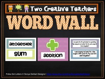 Addition Word Wall and Worded Questions Pack