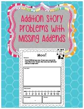 Missing Addends Story Problems (Numbers 1-10)