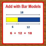 Addition using Bar Models, 1st Grade Math Worksheets - Sin