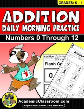 Addition Zero - Twelve Practice Worksheets {Core Curriculu