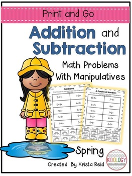Addition and Subtraction Worksheets and No Prep Printable