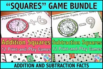Addition and Subtraction Games: An Addition and Subtractio
