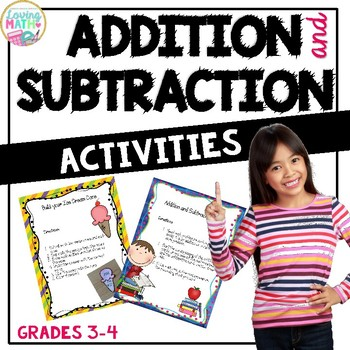 Addition and Subtraction Math Centers and Activities for 3