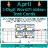 Addition and Subtraction 3-Digit Word Problem Task Cards -