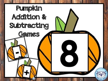 Addition and Subtraction Basic Facts Games with Pumpkins