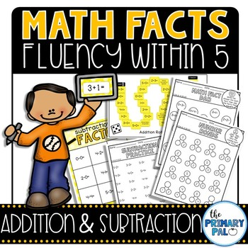 Addition and Subtraction Basic Facts Practice: 0-5 edition